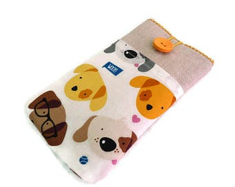 iPhone 7 sleeve, Dogs, iPhone SE cover, iPhone 5 pouch, iPhone 6 Plus case,  iPhone 7 Plus case, iPod, iPhone 7 Pouch, case with pocket