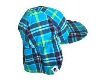 Sun & Swim Hat / Baby Sun Hat / Toddler Sun Hat / Kids Swim Hat / Plaid
