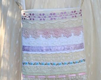 OOAK Small Romantic Shabby Chic Victorian Cross-body/Evening bag