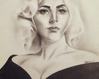 Lady Gaga - Graphite Portrait