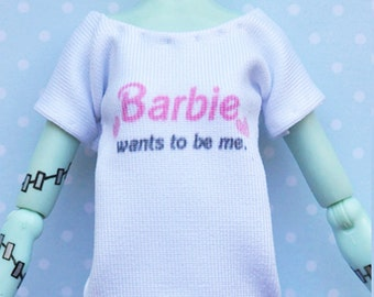 Monster doll clothes Handmade BARBIE T-shirt fits EAH\MH