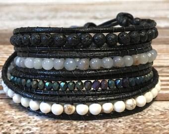 Chan Luu Style Wrap Bracelet / Healing Crystal Bracelet / Chan Luu Bracelet / Chakra Bracelet