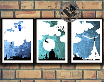 T.A.R.D.I.S. - Doctor Who Tardis Inspired Trio A4 Posters Set