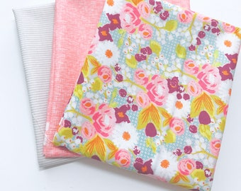 Fat Quarter Bundle Bittersweet by Sue Daley Designs For Riley Blake Designs- 3 Fabrics