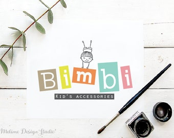 Customized Logo Design,Colorful Business Logo, Kid's Logo, Kids Boutique Pre made and Personalized logos (9-LOGO)