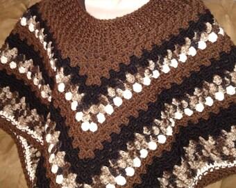 Cocoa brown poncho