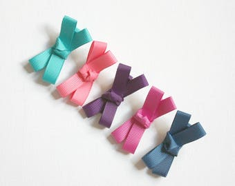 Toddlers Hair Clips - Navy, Jade, Plum, Raspberry, Coral