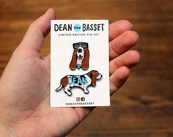 dean the basset limited edition pin set!