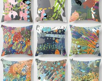 Abstract art pillows, Mix and match decorative sofa throw pillow, modern home decor, accent cushion cover, moddesign4u (700d1