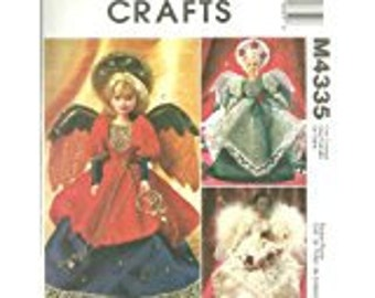McCalls Crafts pattrn M 4335 11 1/2 inch angel doll clothing and tree topper NEW