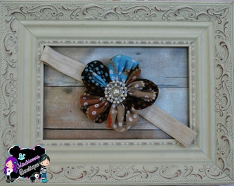 Fabric Fall flower Headband