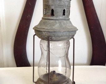 1900s Oil Lamp, Tin, Persky & Co.