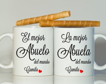 Abuelo Abuela mugs, Grandpa gift, Grandma gift, Grandparents gift, Abuela gift, Abuelo gift, Grandfather gift, Grandmother gift, Spanish mug