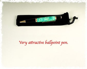 A very attractive ball point pen.