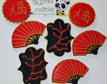 Chinese Party Sugar Decorated Cookies