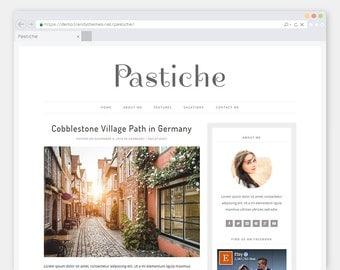 "Premade WordPress Theme Blog ""Pastiche"" 