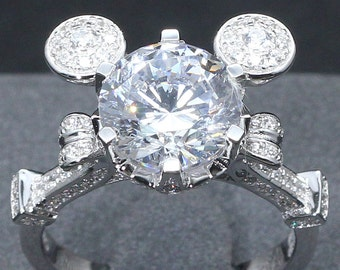3 Carat Cinderella Mashup Pumpkin Carriage Fairy Tale Wedding Engagement Promise Wedding Ring Once Upon A Time