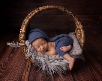 Newborn photo prop, Sleepy hat and pants, newborn pants set, newborn pants and hat, newborn boy, newborn girl, newborn props, knit pants