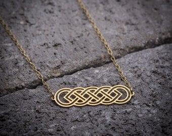 Gift under 50, celtic necklace, dainty necklace, infinity necklace, gift for her, everyday necklace