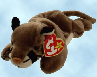 12 CANYON The Cougar Mountain Lion, Ty Beanie Babies wild cat, 4212, One Dozen, approx. 8.5in, NEW Never Displayed