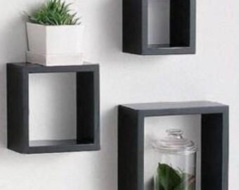 box shelves,wood shelves,wooden shelves,wall shelves,book shelves,bathroom shelves,geometric shelves,contemporary shelves,set of 3