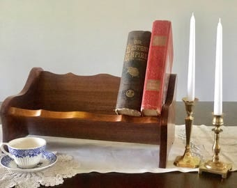 Wooden Table Top Book Rack