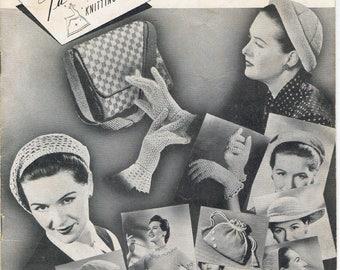 Paragon Crochet Book 67 - Vintage 1950s PARAGON Knitting Crochet Pattern Book 67 Hats bags GLOVES & BLOUSES