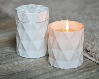 White Gloss Prism Luxury Candle