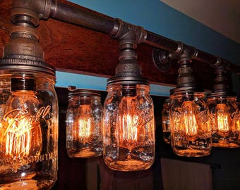 Mason jar lighting Etsy