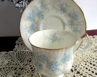 Paragon REMEMBER ME Bone China Tea Cup and Saucer - Made in England