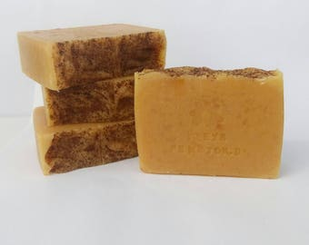 ECO Handmade All Natural Cold Process Soap - Honey-Carrot-Cinnamon