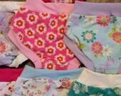 3 Pairs of Organic Cotton Girls Panties Underwear Undies Scrundies Toddler Children - Kid -Pink - 2T 3T 4T 6 8 10 12 - French Stretch Bamboo
