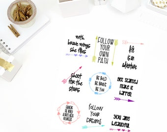Thoughtful Quote Stickers! Perfect for your Erin Condren Life Planner, calendar, Paper Plum, Filofax!