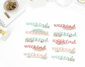 Arrow Weekend Stickers! Perfect for your Erin Condren Life Planner, calendar, Paper Plum, Filofax!