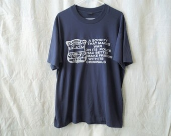 SALE 90s Police War Against Criminals Pro-Police Shirt T-Shirt