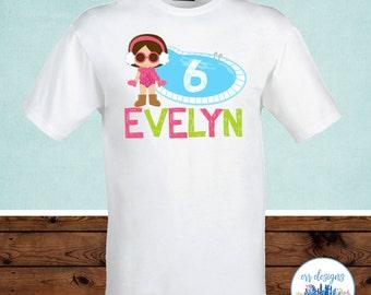 Winter Pool Party Birthday Shirt, Winter Pool Party Iron On Transfer, Winter Pool Party T-Shirt Transfer