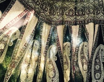 Vintage 60's indian sheer gauze wrap skirt