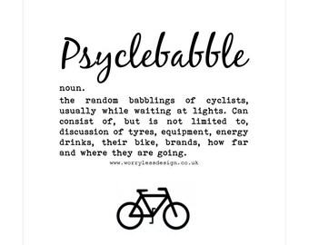 Cycling Card - Psyclebabble