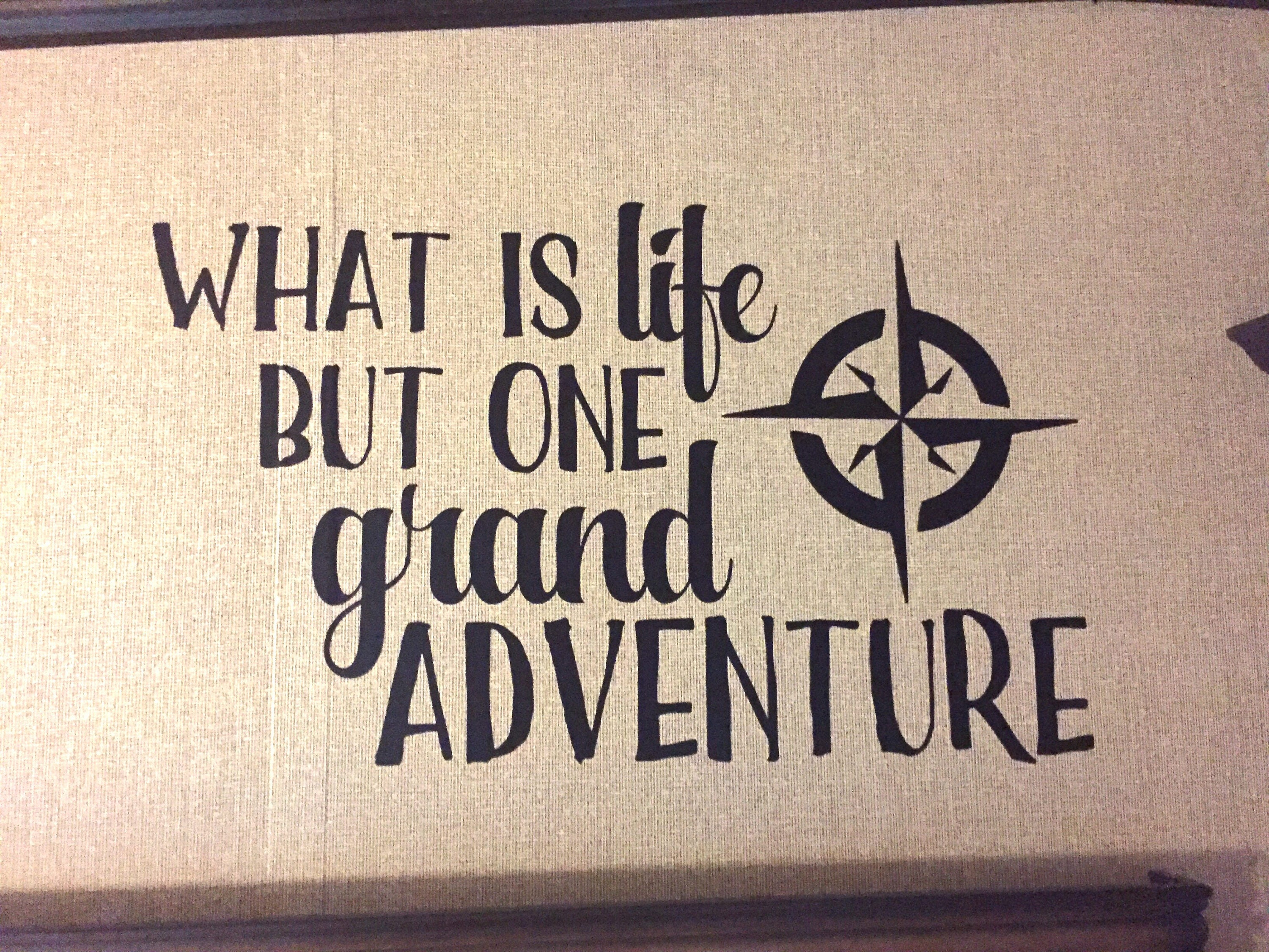 What Is Life But A Grand Adventure Wall Decal || Adventure, Travel,  Wanderlust