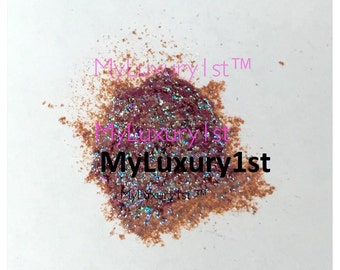 Burgundy Teal Pigmented Glitter Mica Mineral Powder Cosmetic Grade Melt and Pour Eye Shadow Safe Lip SAFE Soap Making Colorant MP CP Soap