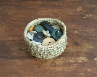 Small Dried Palm Leaf Basket