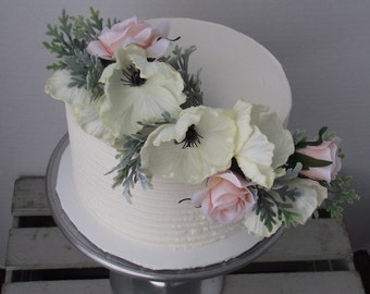 Wedding Cake Flowers Topper Corsage Rustic WeddingFlowers With Anemones