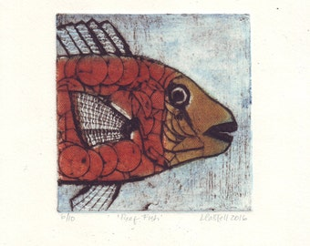 Collagraph of a fish