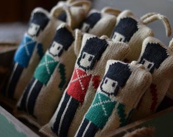 Knit Wool Nutcracker Christmas Ornament