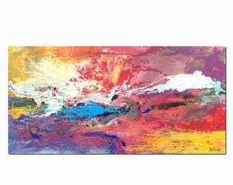 Abstract Painting, Large Original Painting, Landscape Painting, Large Wall Art, Canvas Painting, Abstract Art, Canvas Art, Acrylic Painting