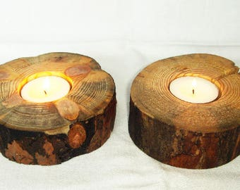 Rustic tea light candle holder Gift for her him Anniversary gift Wedding gift Rustic home decor Reclaimed wood Housewarming gift Mothers day