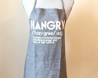 "Cotton ""HANGRY"" apron"