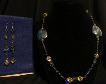 Blue and Yellow Jewelry set