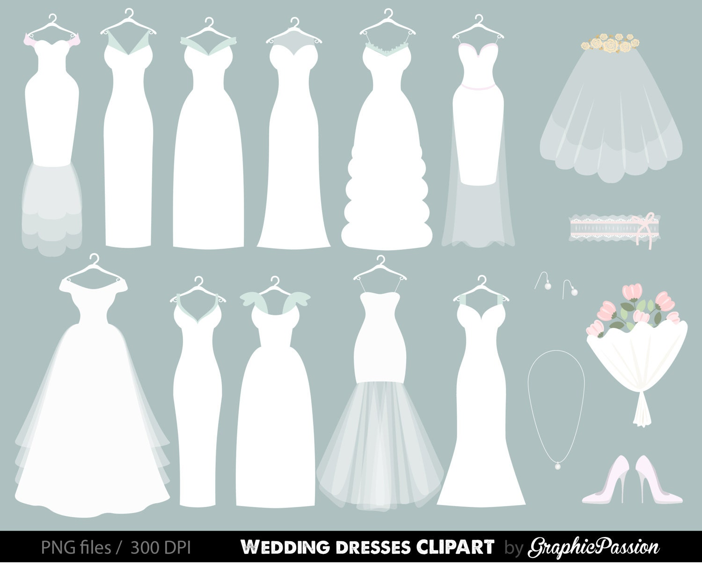wedding clipart wedding dress clipart bridal clipart