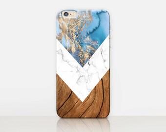 Marble Wood Phone Case  - iPhone 7 Case - iPhone 7 Plus Case - iPhone SE Case - Samsung S7 Case - iPhone 6S - Tough Case - Matte Case